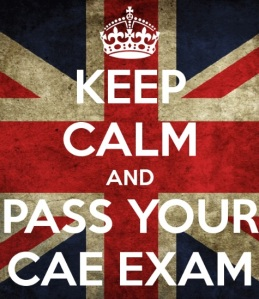 CAE exam keep calm